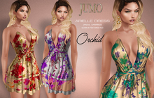 .:JUMO:. Arielle Dress Orchid - Maitreya Belleza Slink - ADD ME