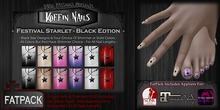 DP - Koffin Nails - FatPack - Festival Starlet - Black (Boxed)