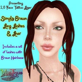 MysTique Simply BROWN Eyelashes & Eyeliner Set