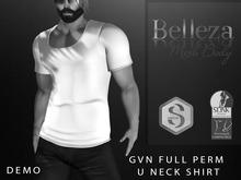 U Neck Full Perm Shirt Demo
