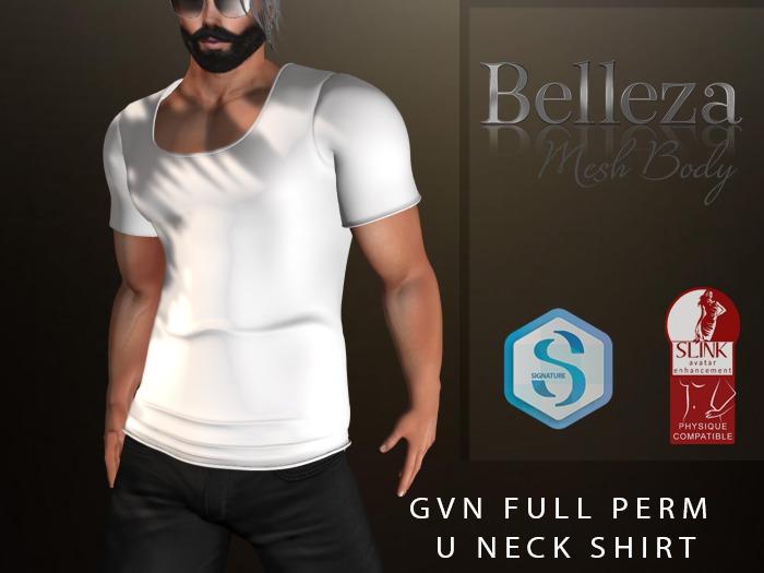 U Neck Full Perm Shirt