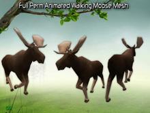 Full Perm Amazing Animated Walking Moose Mesh