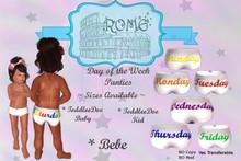 >rOMe< Day of the week panties ~ Toddleedoo Baby