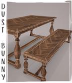 dust bunny . harvest feast . dining table & bench