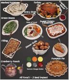 dust bunny . harvest feast . food full set