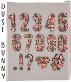 dust bunny . blossom letters . numbers & symbols