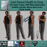 Levi Sweats Outfit in Grey