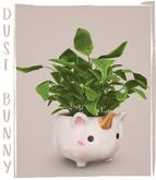 dust bunny . unicorn planter