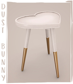 dust bunny . heart shaped side table . boxed