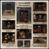 Steampunk Dollhouse Kitchen Set (Boxed)