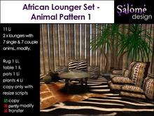 African Lounge Set - Animal Pattern 1