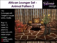 African Lounge Set - Animal Pattern 2
