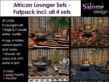 African Lounge Set - Fatpack Sales Box