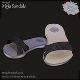 {V*Y} Myja Sandals - Black