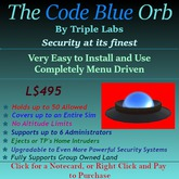 CODE BLUE Security Orb by Triple Labs Home & Land Security