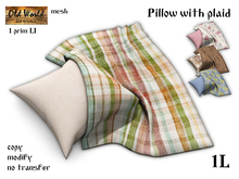 Pillow with plaid - Gift from Old World