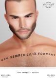 xic naif - Nec Semper - tattoo (wear to unpack)