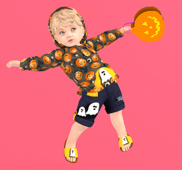 Lexxie TOTSiPOP Baby  hoodie Halloween