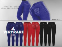 "#VERYRARE ""CURVY"" BIG T JEANS ""BLUE"""