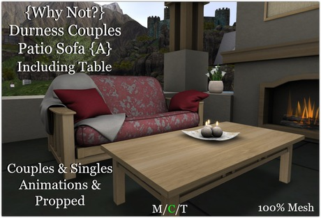 {Why Not?} Durness Couples Patio Sofa {A}-Boxed