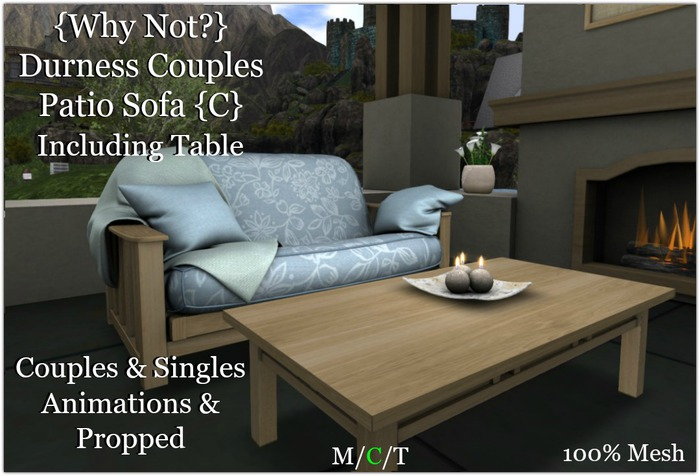 {Why Not?} Durness Couples Patio Sofa {C}-Boxed