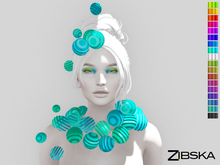 Zibska [50L Closeout] ~ Aolani Color Change Collar and Adornment
