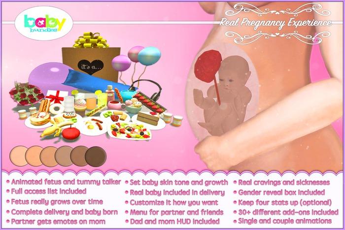 BabyBundles Real Pregnancy Experience Tummy Talker + HUDs