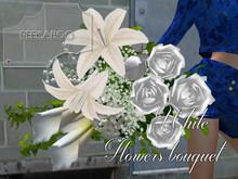 p-a-b white flowers bouquet