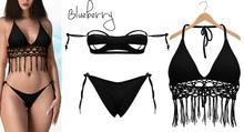 Blueberry - Jenna - Bikini Set - Black