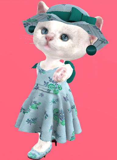 Lexxie Dinkies Dress Roses 3