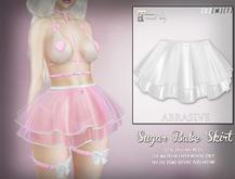 [ abrasive ] Sugar Babe Skirt - White