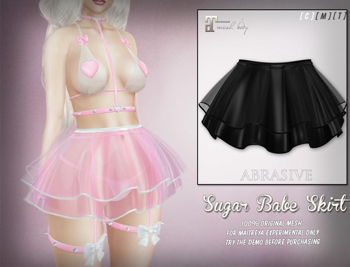 [ abrasive ] Sugar Babe Skirt - Black