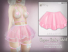 [ abrasive ] Sugar Babe Skirt - Blush