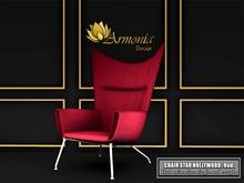 Armonia Decor [AD] Chair Star Hollywood. Red. BOX.