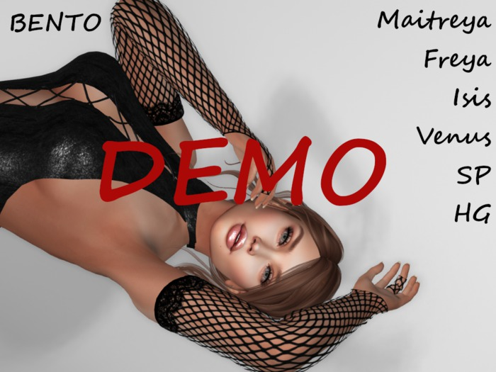 ~PP~ DEMO Black Fishnet Bento Gloves