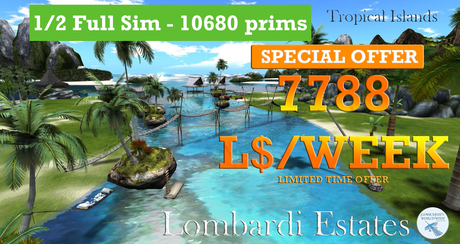 PROMO: Tropical Forest 1/2 FULL SIM 7788 WEEK !! 10800 PRIMS CLASS 8