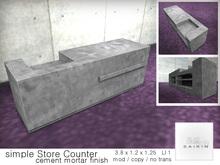*+SAIKIN simple Store Counter cement mortar finish