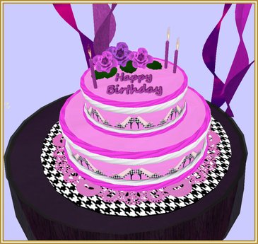 Groovy Second Life Marketplace Diva 2 Tier Happy Birthday Cake Funny Birthday Cards Online Alyptdamsfinfo