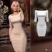 Valentina E. May Dress White