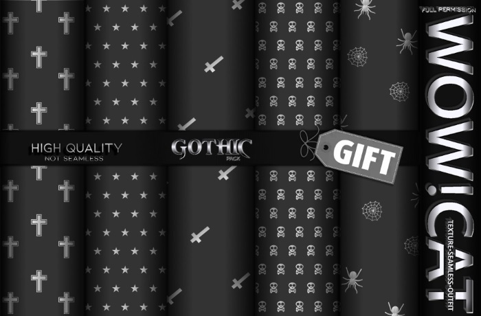 TEXTURE WOW!CAT GIFT GOTHIC PACK 02