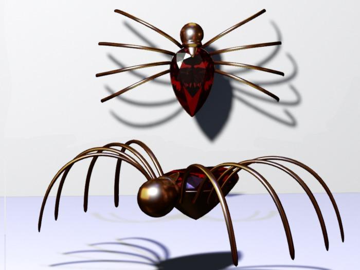 Montauk Eve's Ruby spider