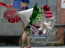 p-a-b red flowers bouquet