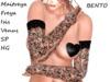 ~PP~ Black Floral Lace Bento Gloves