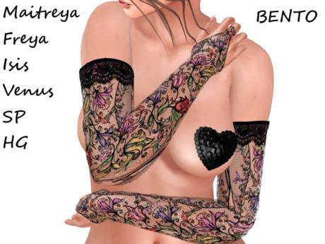 ~PP~ Spring Floral Lace Bento Gloves