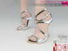 Full Perm Metalic Leather High Heel Sandals Slink High,Maitreya High, Ocacin Killer Heel,Belleza High