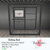 Day Dreamer  - Clothing Rack - IRON (boxed)