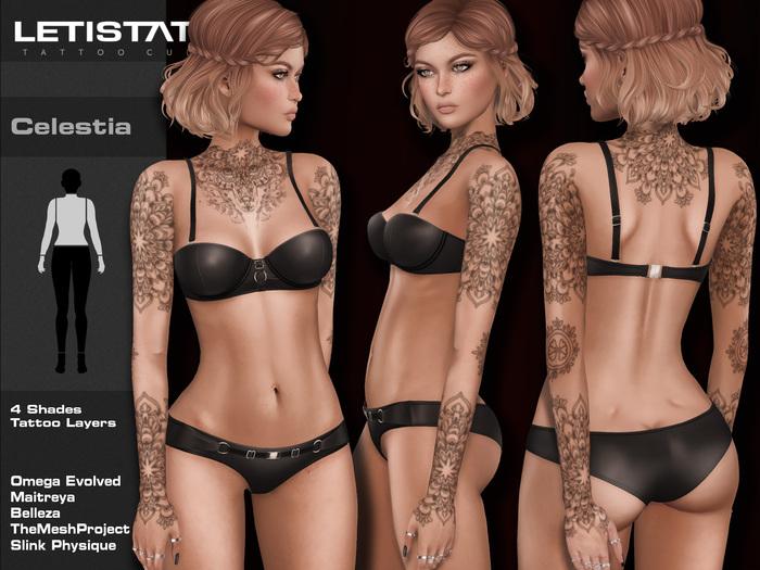 Letis Tattoo :: Celestia :: Tattoos Bakes On Mesh & Legacy Maitreya and more Appliers