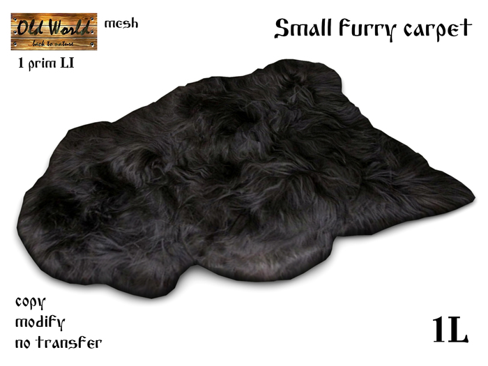 Small furry carpet - Gift from Old World