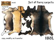Set of furry carpets v1 - Old World - Rustic / Medieval Decorations