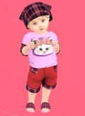 Lexxie Totsipop Baby Tartan Kitty